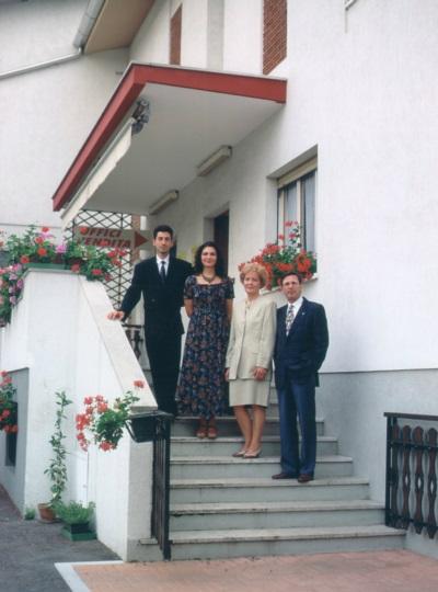 Angelo, Teresa, Giovanna e Rino Coradazzi anni '90