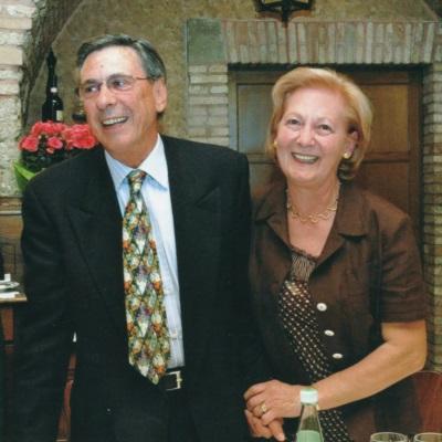 Giovanna e Rino alla cena per festeggiare i 30 anni attività