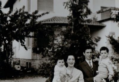 Rino e Giovanna Coradazzi con Angelo e Teresa