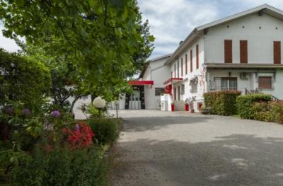 Il viale di ingresso della Prosciutti Coradazzi. I fiori sono quelli di Giovanna.